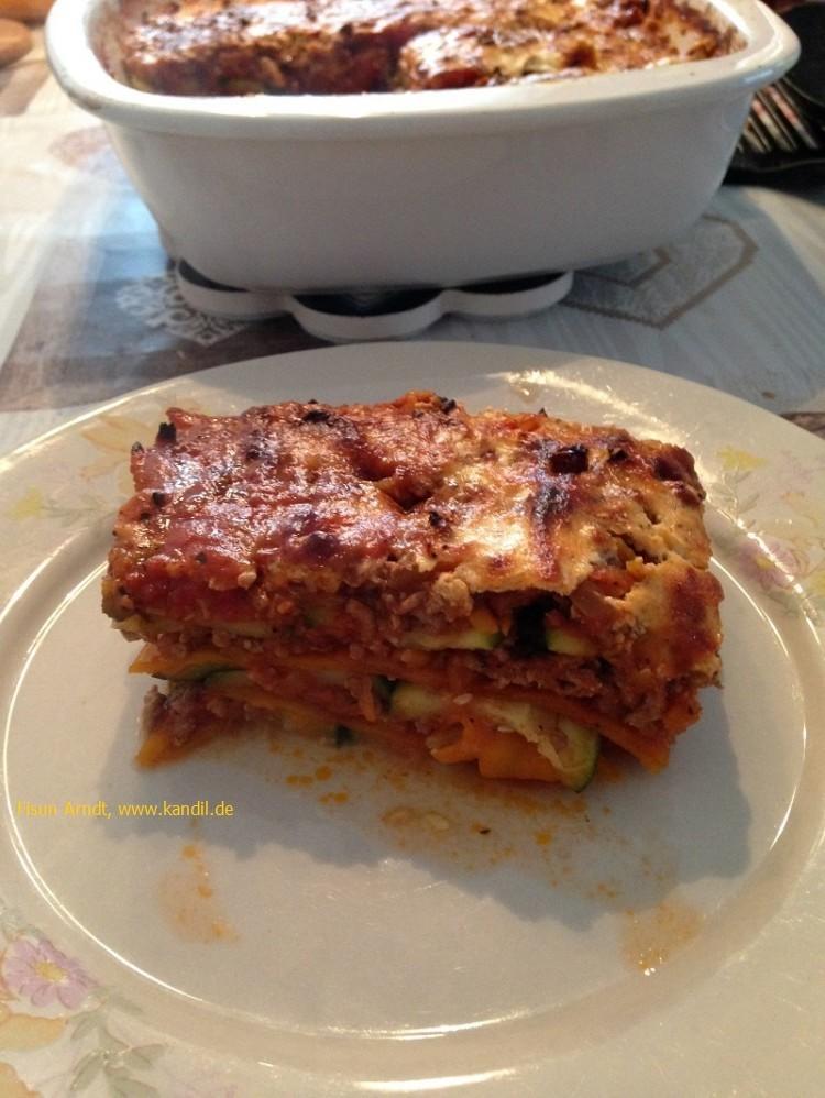 Zucchini-Möhren-Lasagne