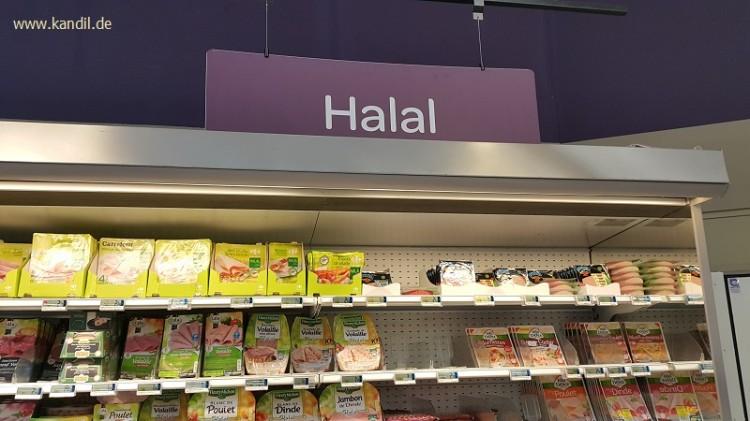 Halal-Lebensmittel im Supermarkt