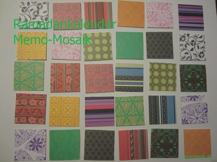 Ramadankalender Legekartenspiel