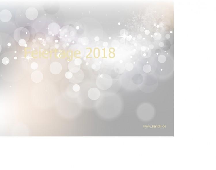 Wichtige Feiertage 2018