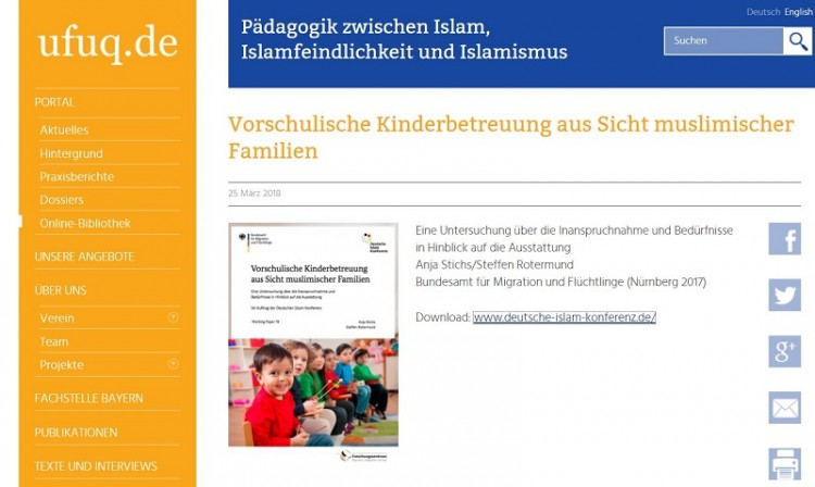 Muslimische Kinder in Kindergärten