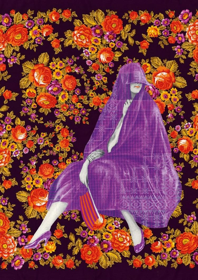 Plakatsujet der Ausstellung Verhüllt, enthüllt! Das Kopftuch © KHM-Museumsverband