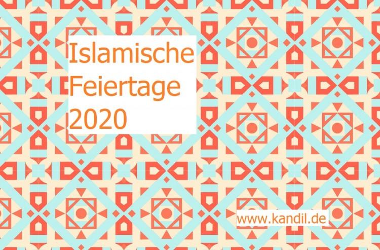 Islamische Feiertage 2020