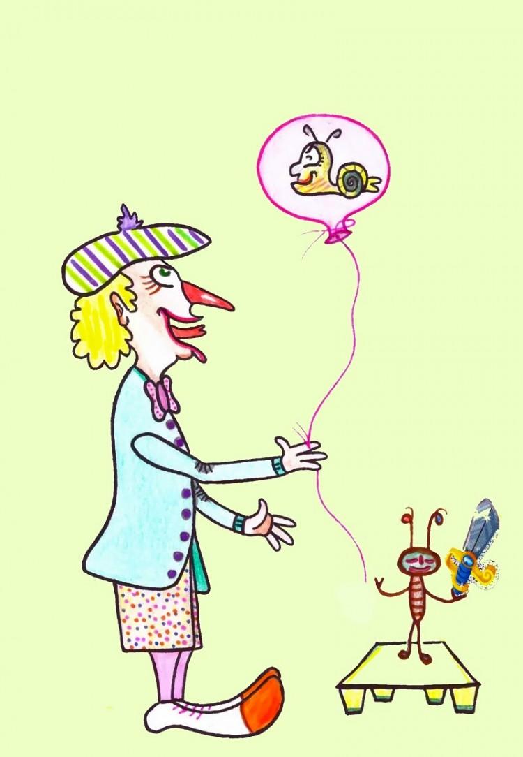 Mit Luftballon