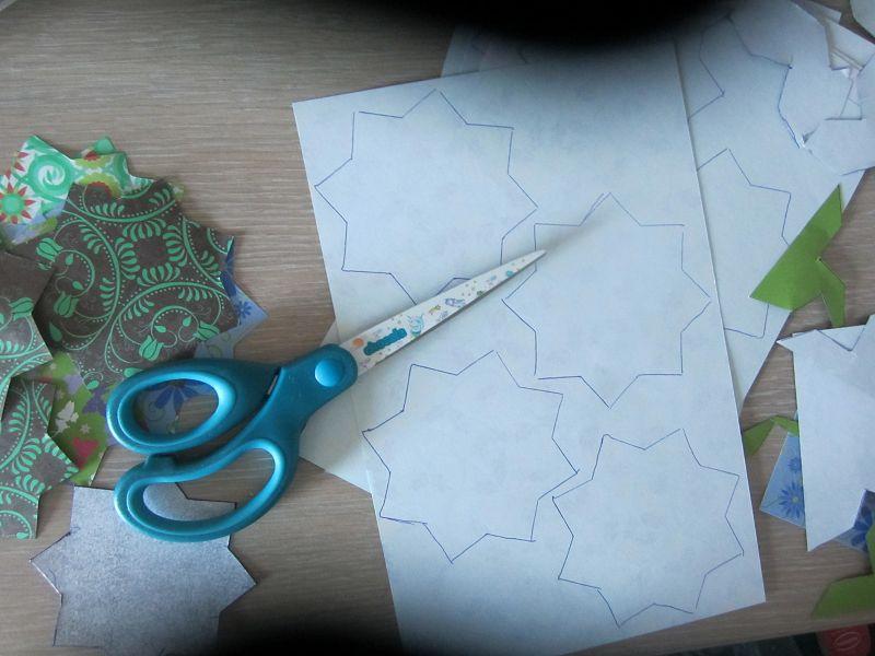 Ramadankalender Papiersterne 6