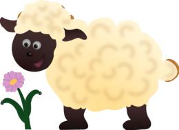 Schafe aus Tonkarton und Watte