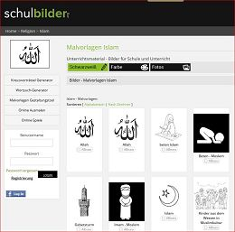 Bilder zum Islam für die Schule