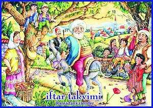 Ramadankalender aus Papier