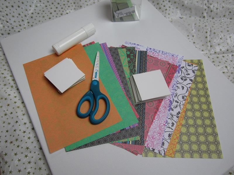 Ramadankalender Legekarten, Material