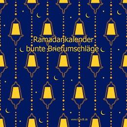 Ramadankalender bunte Briefumschläge