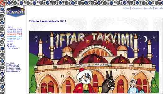 Virtueller Ramadankalender 2003