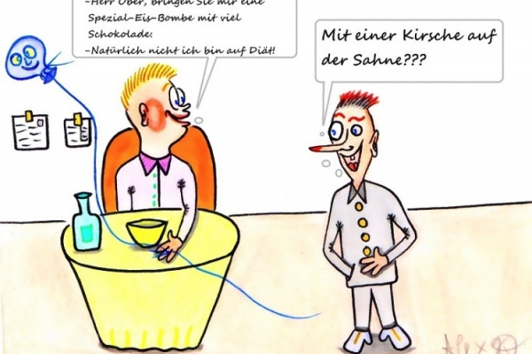 Cartoon von Alex Kats